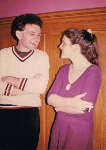 Yossi and Tami in San Francisco, 1980. Please note  a ciggarete in Tami's hand.