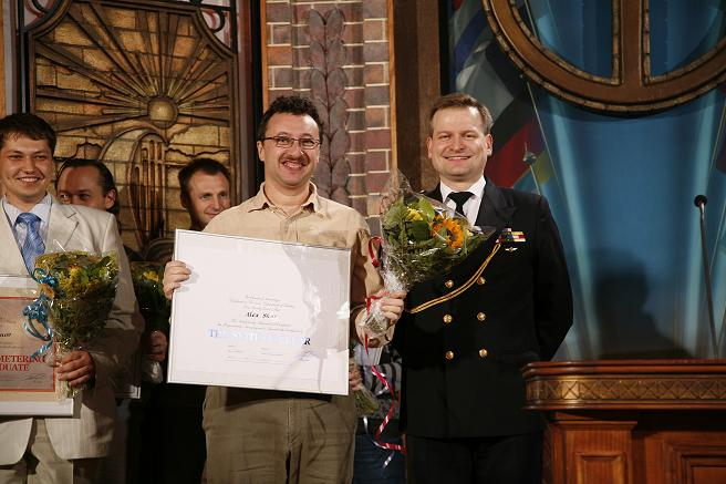 Alex receives his Clear certificate from the Captain of the Advanced Org, Copenhagen