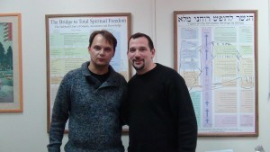 Dima with his auditor Aviv