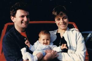 Семья Чарни навещает семью Лембергер в Бостоне, 1986. Кармели Лембергер 5 месяцев.